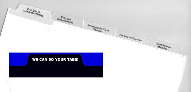 We can do your tabs.